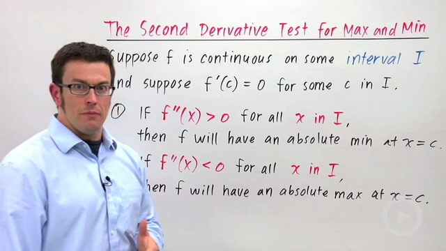 Optimization Using the Second Derivative Test