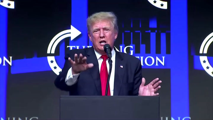 Trump encourages people to get Covid vaccine but 'believes in their freedoms'