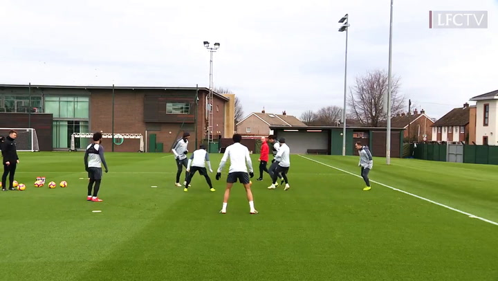 Matip nutmegs Firmino and Liverpool team-mates go wild