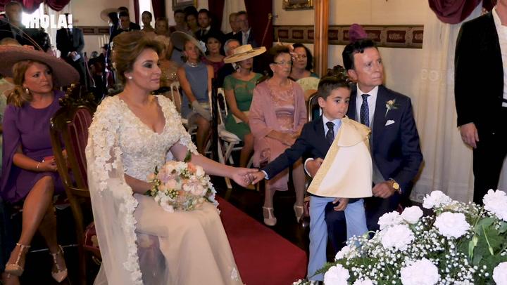 Así fue la ceremonia de la boda de José Ortega Cano y Ana María Aldón en 2018
