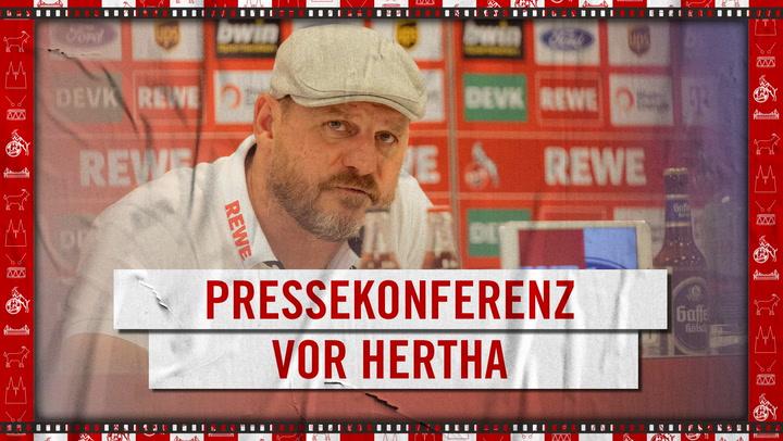 Pressekonferenz vor Hertha