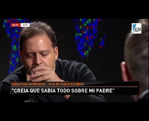 El hijo de Pablo Escobar dijo que está procesado por el parentesco con su padre