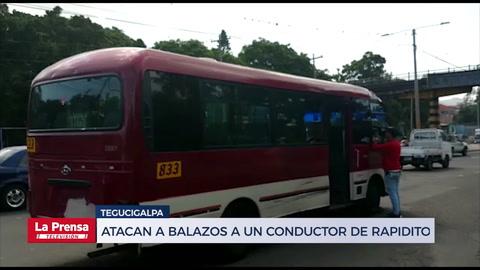 Atacan a balazos a un conductor de rapidito en Tegucigalpa