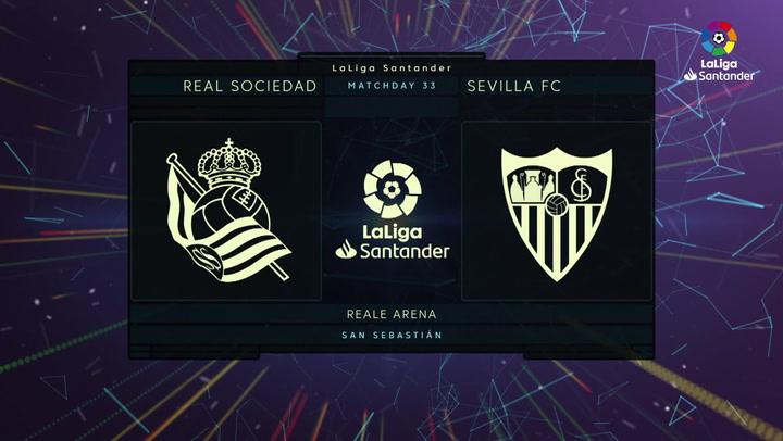 LaLiga Santander (J33): Resumen y goles del Real Sociedad 1-2 Sevilla