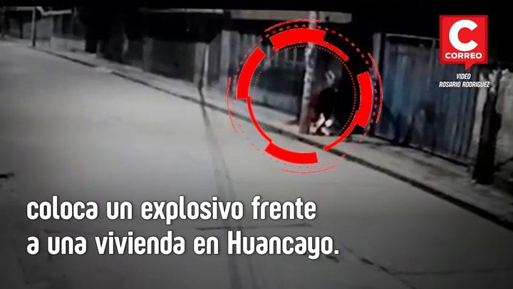 Colocan bomba frente a una casa en Huancayo
