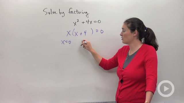 Solving Quadratic Equations by Factoring - Problem 1