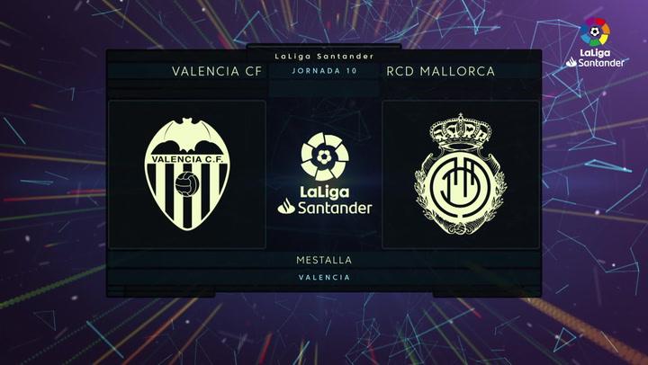 LaLiga Santander (Jornada 10): Valencia 2-2 Mallorca