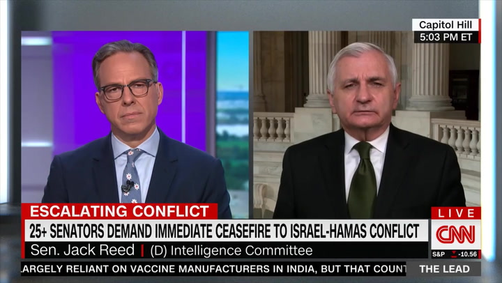 Dem Sen. Reed: Conflict Among Israelis Has 'More Disturbing Long-Term Consequences' than Current Battle Against Hamas