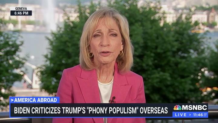 Kasie Hunt: 'Surprising' Biden Criticized Trump, Republicans 'When He Was on Foreign Soil'