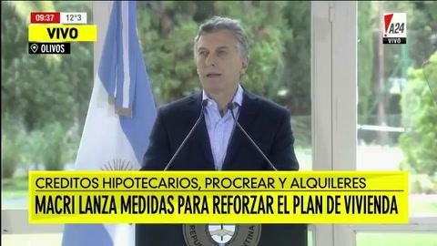 Macri anunció un tope a la cuota UVA y una nueva ley para proteger a inquilinos
