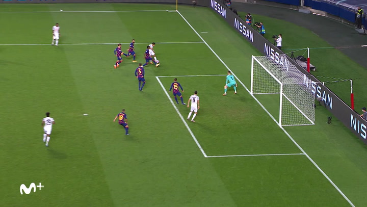 Champions League FC Barcelona-Bayern. Gol de Lewandowski (2-6)