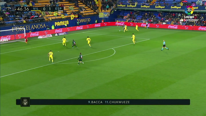 Gol de Raúl De Tomás (1-1) en el Villarreal 1-2 Espanyol