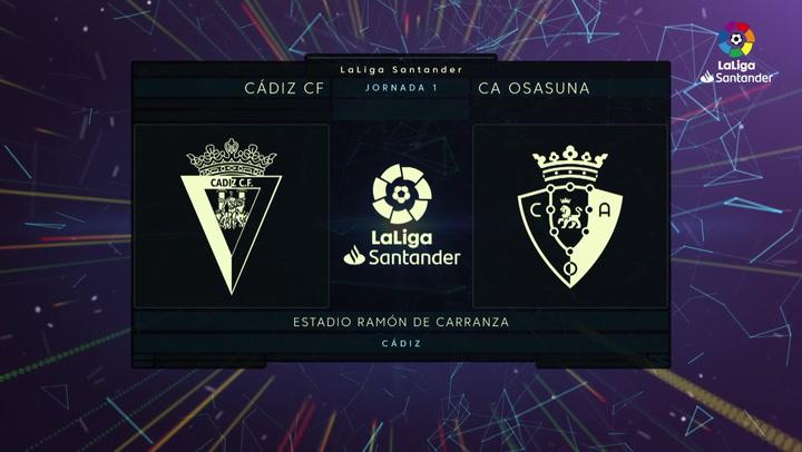 LaLiga (J1): Resumen y goles del Cádiz 0-2 Osasuna