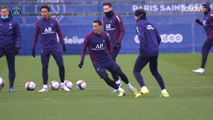 Paris Saint-Germain's training session before PSG clash vs Montpellier