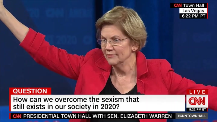Warren: Electing a Woman Is the Best Way to Combat Sexist Coverage