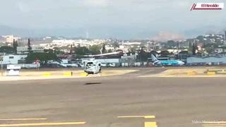 Así salió el helicóptero con la Virgen de Suyapa