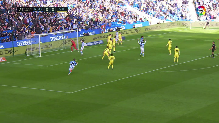 Gol de Willian José (1-0) en el Real Sociedad 1-2 Villarreal
