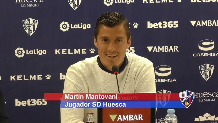 Presentación de Mantovani en el Huesca