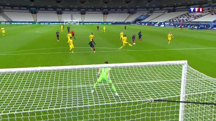 Griezmann cierra la goleada de Francia a Ucrania (7-1)