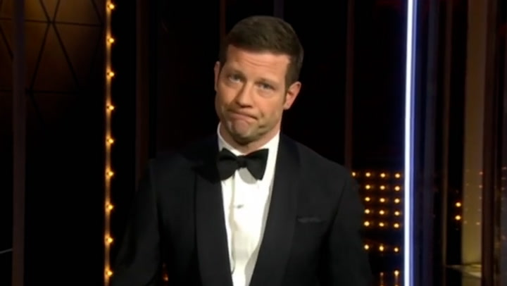 Dermot O\'Leary and Edith Bowman pay tribute to Prince Philip at the BAFTAs