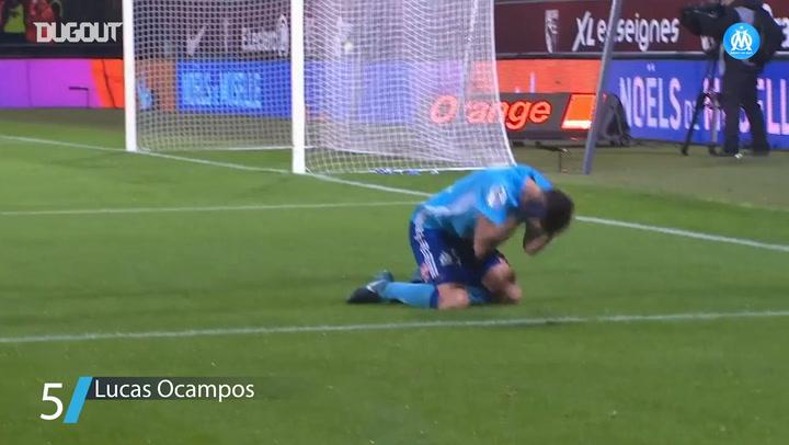 Olympique de Marseille's best five goals vs Metz