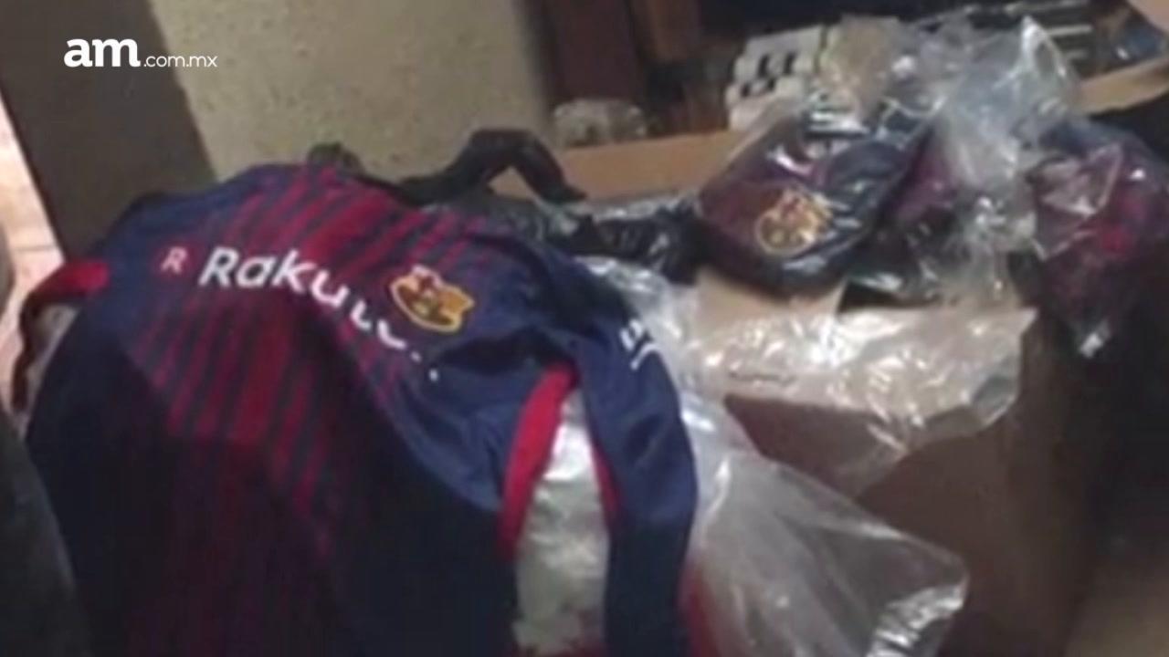 Confiscan prendas del Barcelona