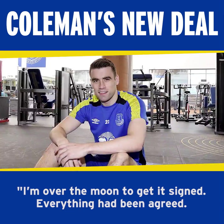 Coleman Thanks Chairman For New Contract