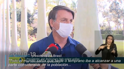 Bolsonaro contrajo covid-19... y se quitó mascarilla frente a periodistas