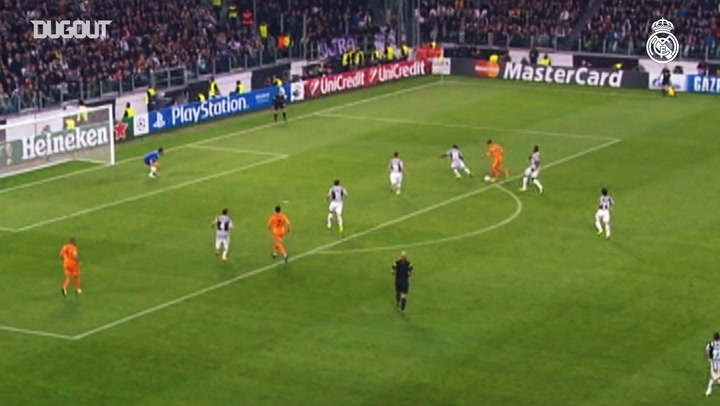 Bale's first Champions League goal for Real Madrid