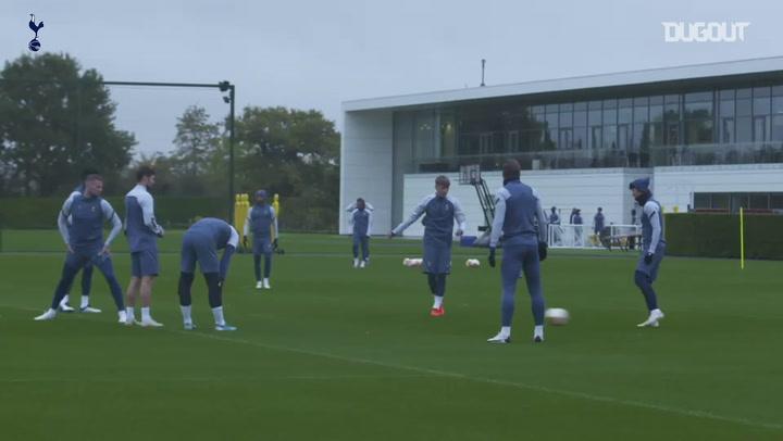 Tottenham treina para estreia na fase de grupos da Liga Europa