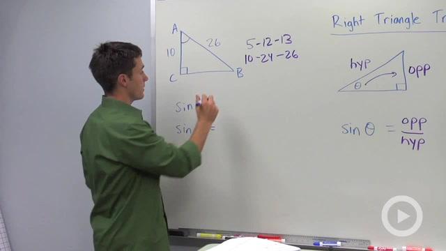 Trigonometric Ratios: Sine - Problem 1