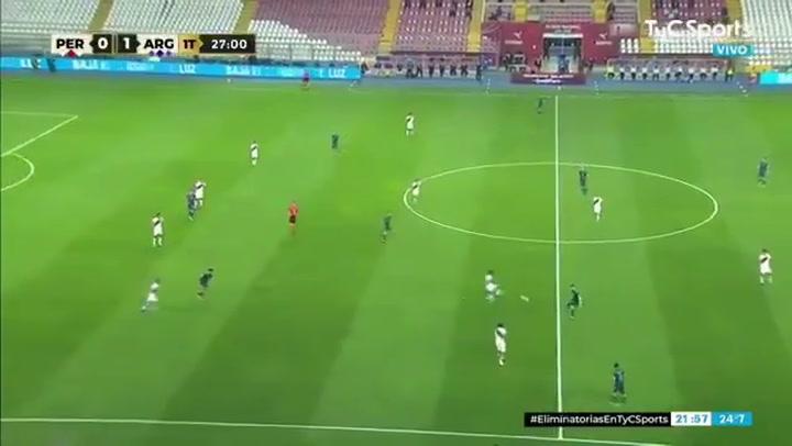 El gol de Lautaro a Perú