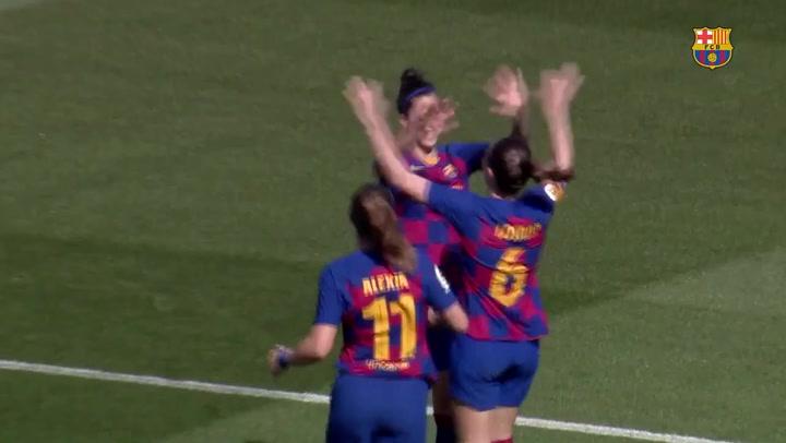 El hat-trick de Jenni Hermoso ante el Madrid CFF