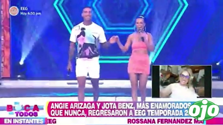 Angie Arizaga y Jota Benz se lucen más enamorados que nunca en EBT | VIDEO