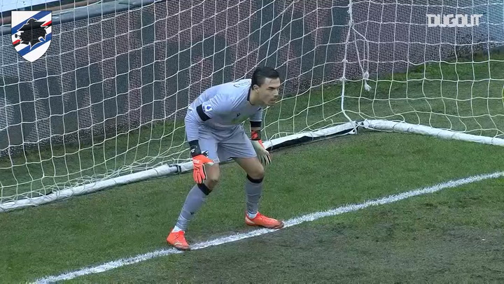 Audero saves Sánchez's penalty