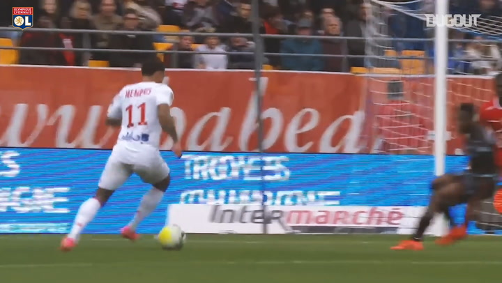 Memphis Depay's hat-trick vs Troyes