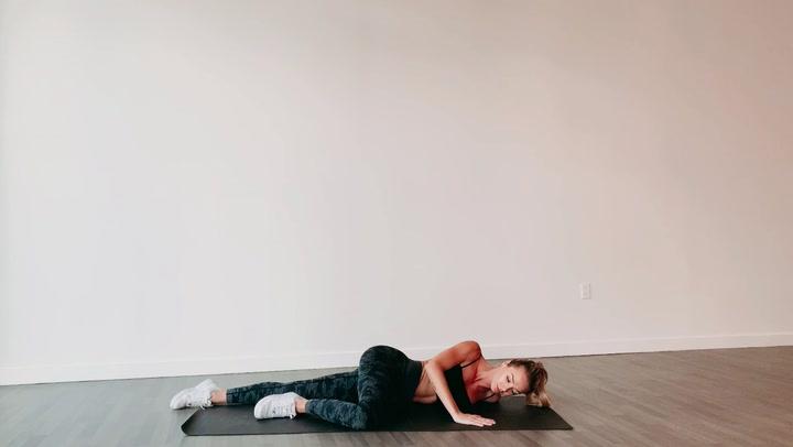 Lying pectoral Stretch