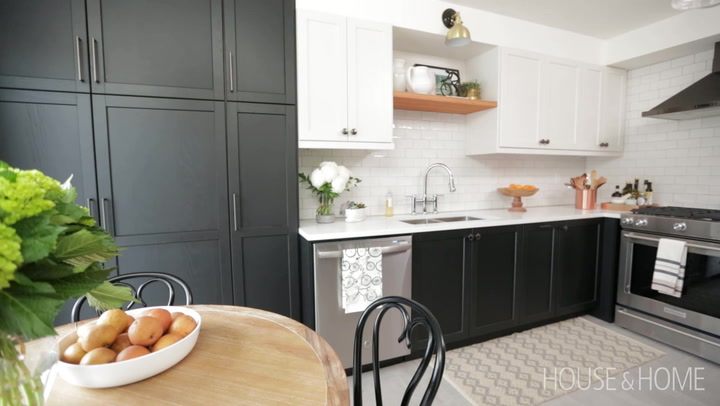 A Small Black And White Kitchen Makeover With Timeless Style House Home