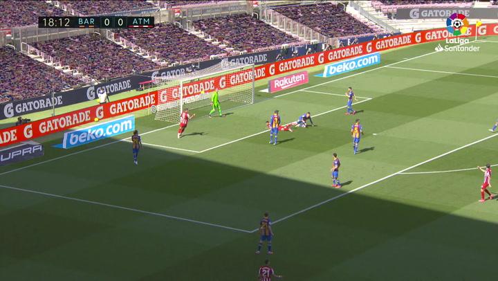 Todas las ocasiones del Atlético contra el Barcelona en el Camp Nou