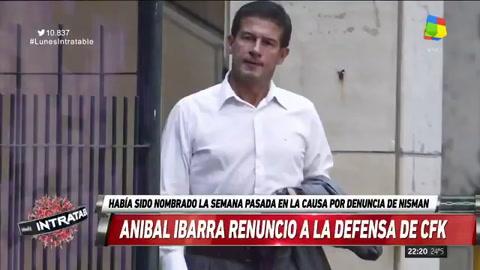 Aníbal Ibarra renunció a la defensa de Cristina Fernández