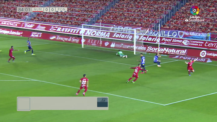 Gol de Zlatanovic (1-0) en el Numancia 1-0 Ponferradina