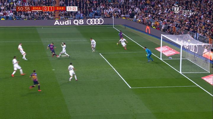 Copa del Rey: Real Madrid-Barça. Gol de Luis Suárez (0-1)
