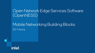 Chapter 1: OpenNESS Mobile Networking Building Blocks