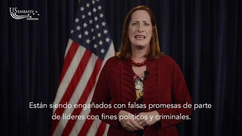 Heide Fulton encargada de Negocios de la Embajada de EEUU se refiere al tema de la caravana de migrantes