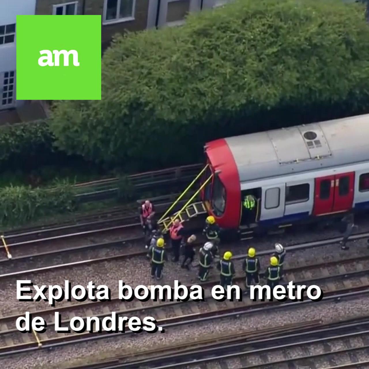 Explota bomba en metro de Londres