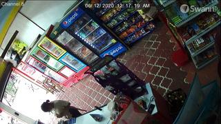 Cámaras de seguridad captan robo en una tienda de Danlí, El Paraíso