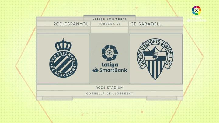 LaLiga SmartBank (J26): Resumen y goles del Espanyol 1-0 Sabadell