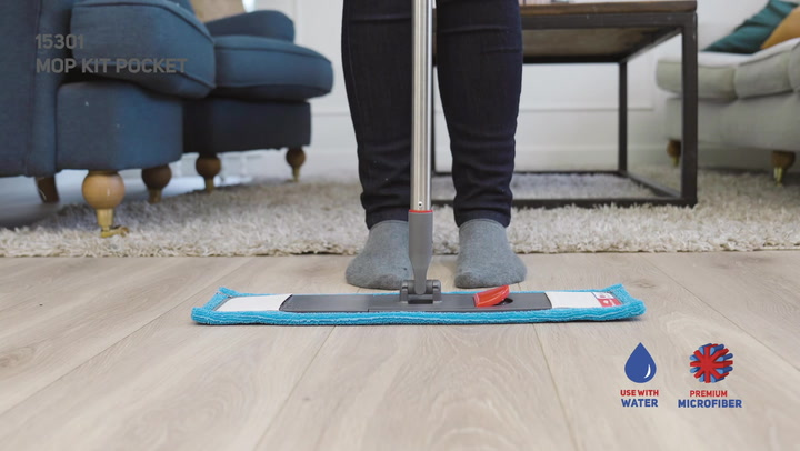 Preview image of Nordic Stream Quick Click Pocket 3-Piece Floor Mop video
