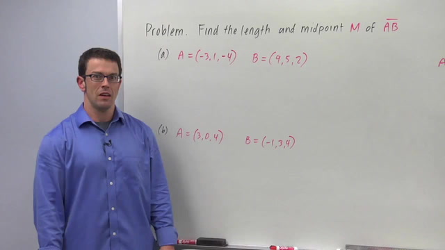 The Midpoint and Distance Formulas in 3D - Problem 1