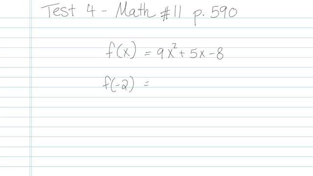 Test 4 - Math - Question 11